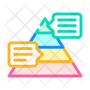 Pyramided Data Analysis Icon