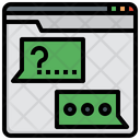 Qa Help Chat Question And Answer Icon