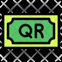 Qatari Riyal Banknote Country Icon