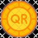 Qatari Riyal Coin Currency Money Icon