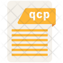 Qcp Format Document Icon