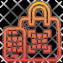Qr Code Scan Shopping Icon