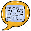 Qr Code Chat Encrypted Chat Chat Security Icon