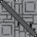 Qr Code No No Qr Code No Code Scan Icon
