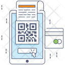 Secure Payment Digital Pay Qr Code Scanning Icon