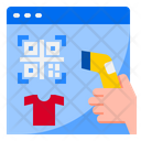 Qrcode Payment Shopping Icon