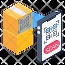 Package Scanning Parcel Scanning Qr Code Scanner Icon
