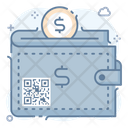 Qr Code Wallet Quick Response Code Matrix Barcode Icon