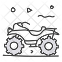 Quad Quad Bike Camo Bike Icon