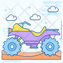 Quad Bike Four Wheeler Bike Icon
