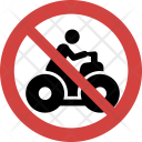 Quad bike not allowed Icon