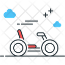 Quadracycle Four Wheelar Vehicle Icon