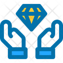 Quality Hand Gem Icon