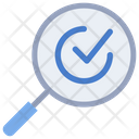 Quality Control Magnifying Glass Icon