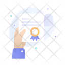 Quality Certificate Best Business Reward Certificate Icon