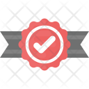 Quality Check Ribbon Badge Icon