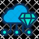 Cloud Diamond Online Storage Icon