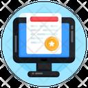 Online Article Online Content Online Blog Icon