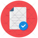 Quality Control Verified Document Checking Code Icon