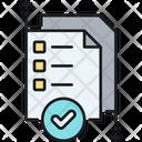 Quality Control Checklist Hecklist Notes Icon