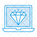 Laptop Device Diamond Icon