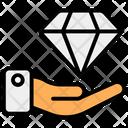 Quality Offering Premium Quality Diamond Icon
