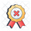 No Quality No Award Quality Rejected Icon
