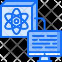 Quantum Computer Atom Icon