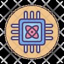 Quantum Computing Microchip Processor Chip Icon
