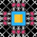 Quantum Control Ai Chip Chip Icon