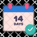 Days Quarantine Calendar Icon