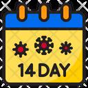 Quarantine Calendar Covid Icon