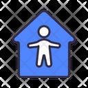 Safe Home Coronavirus Icon