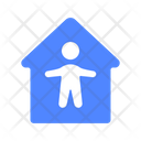 Safe Home Quarantine Icon