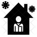 Quarantine Self Quarantine Global Icon