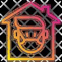 Quarantine Distance House Icon
