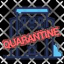 Quarantine Coronavirus Staying Building Icon