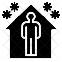 Quarantine Home Covid Icon