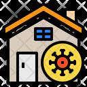 House Stay At Home Coronavirus Icon