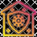 House Shield Virus Icon