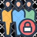 Lockdown Public Avoid Icon