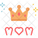 Crown Mothers Day Mom Icon