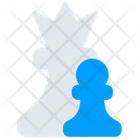 Figure Queen Pawn Icon