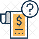 Query Dollar Receipt Icon