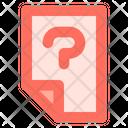 Question File Data Icon