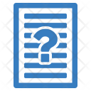 Question Paper Agreement Icon
