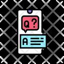 Question Answer Color Icon