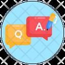 Qa Question Answer Faq Icon