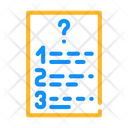 Questions List Color Icon