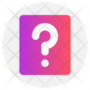Education Paper Question Mark Icon
